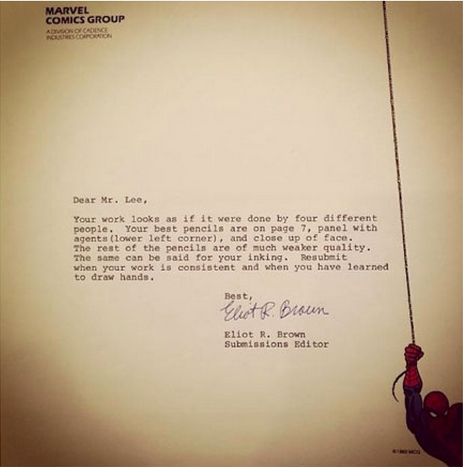 literary rejection letters