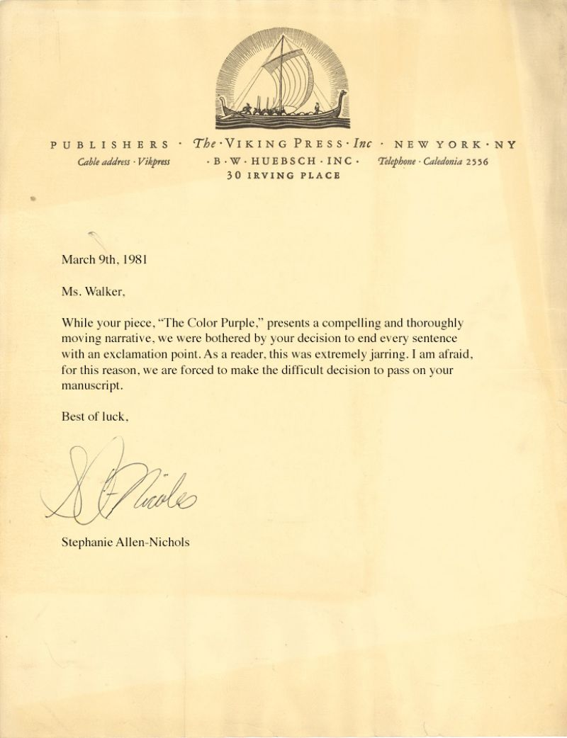Famous literary rejection letters examples from the biggest literary rejection letters aljukfo Images